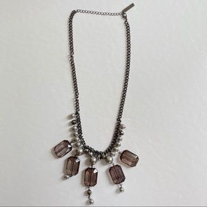 Rampage statement brushed steel look necklace